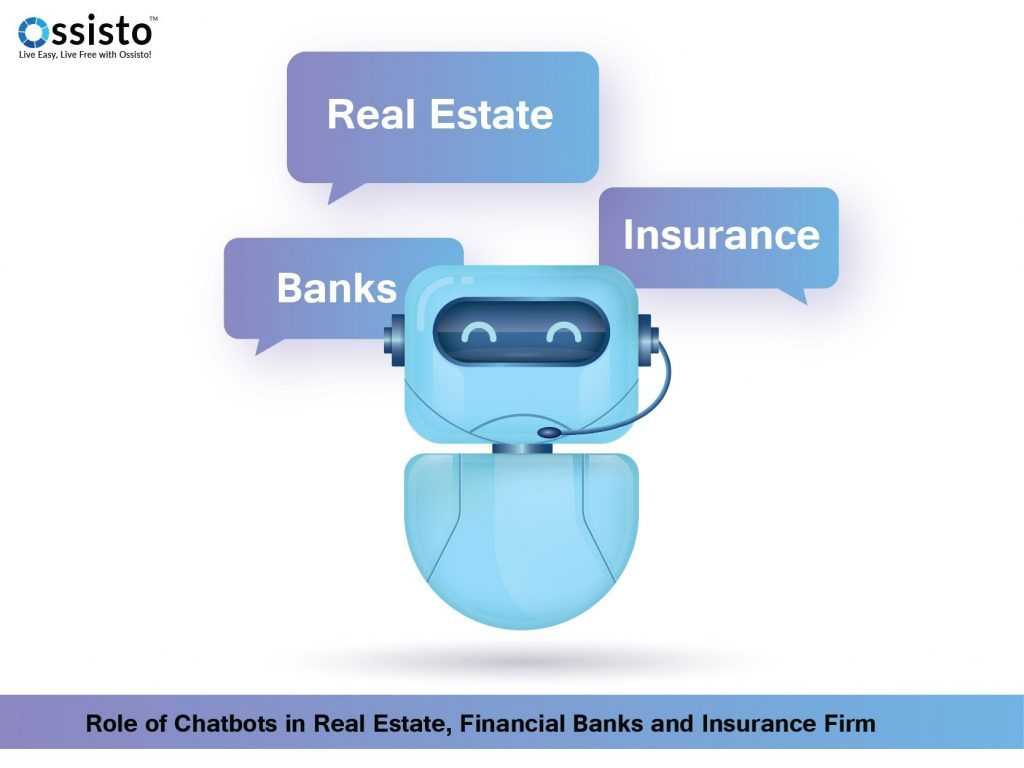 Role of Chatbots in Real Estate, Financial Banks and Insurance Firm