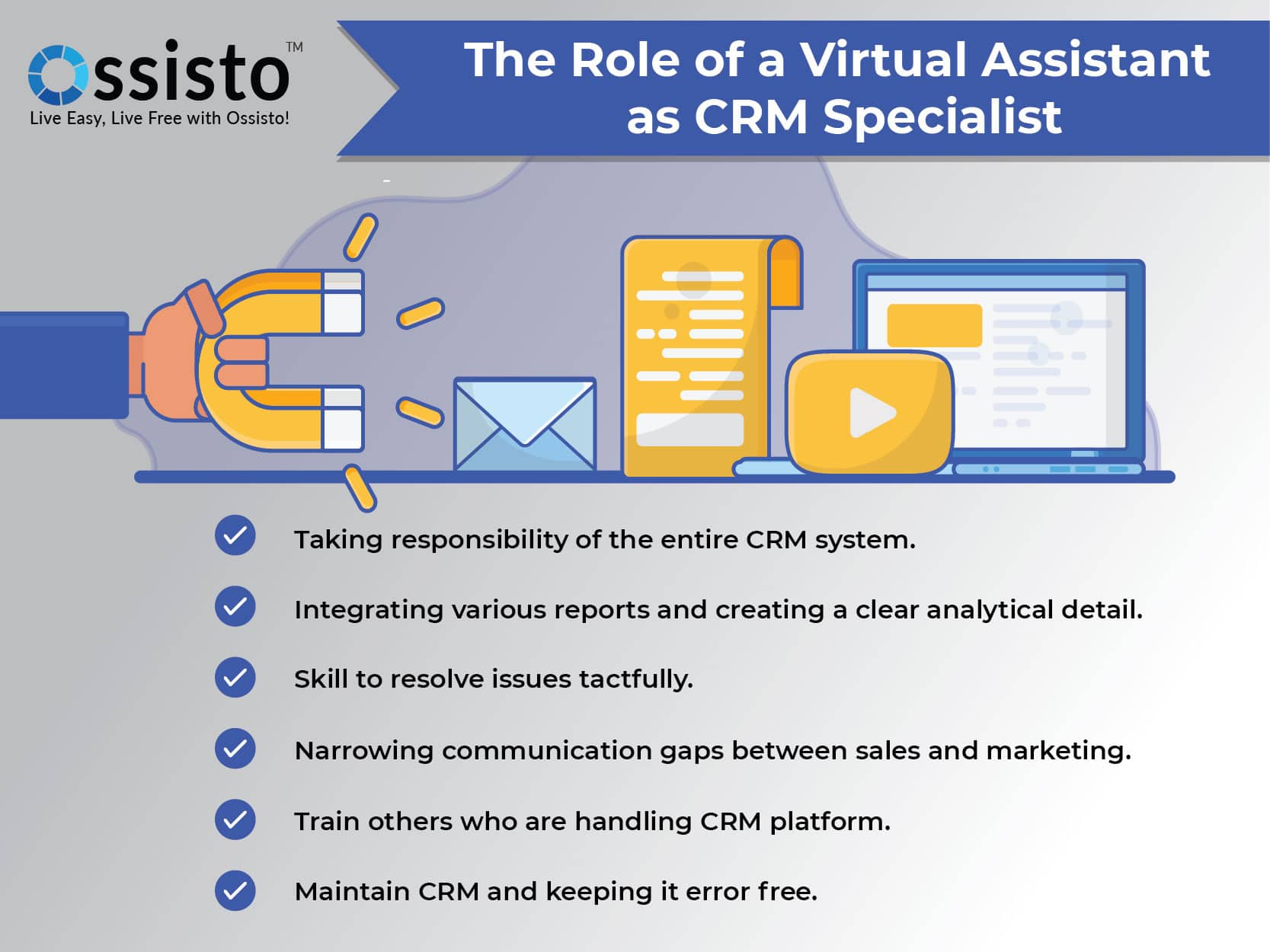 The Role of a Virtual Assistant as CRM specialist